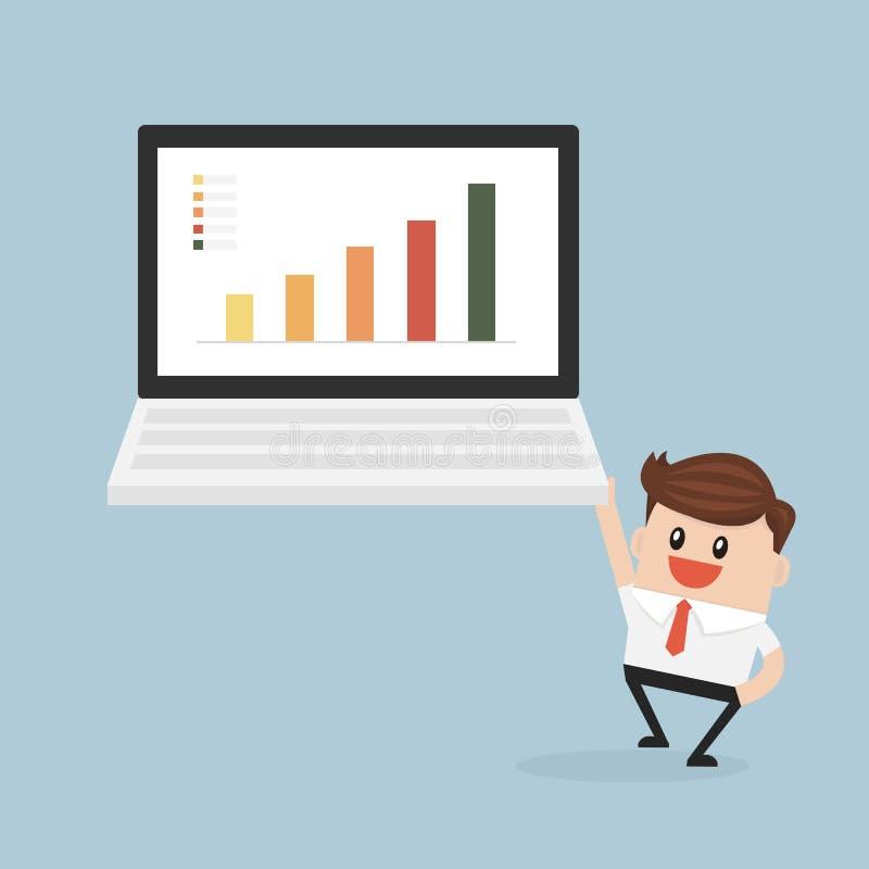 Geschäfts- und Datenanalytik, Vektor illustion flache Designart stock abbildung