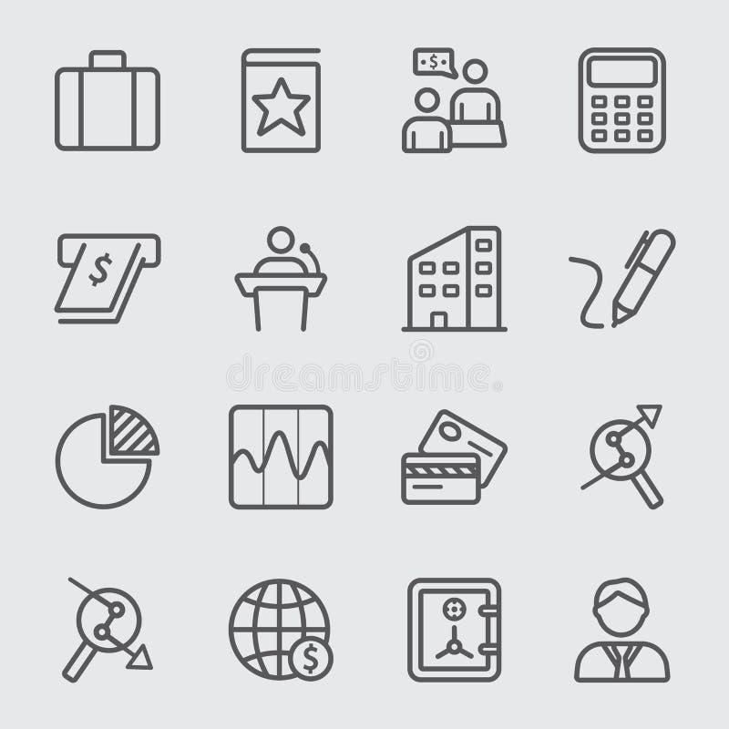 Geschäfts- und Finanzlinie Ikone stock abbildung