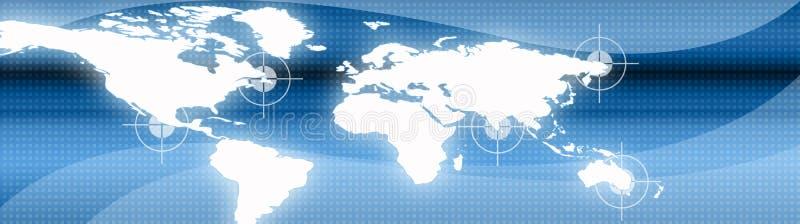 Geschäfts-und Reisen-Web-Vorsatz lizenzfreie abbildung