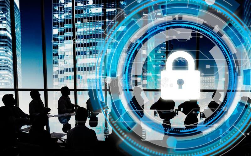 Geschäfts-Unternehmensschutz-Sicherheits-Sicherheits-Konzept stockfotografie