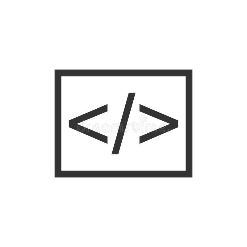 Geschäfts-Vektorikone der offenen Quelle in der flachen Art API-Programmierung vektor abbildung