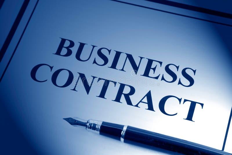 Geschäfts-Vertrag lizenzfreies stockbild