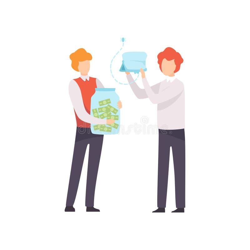 Geschäfts-Wettbewerb, Rivalität zwischen Kollegen, Büroangestellt-Herausforderung stock abbildung