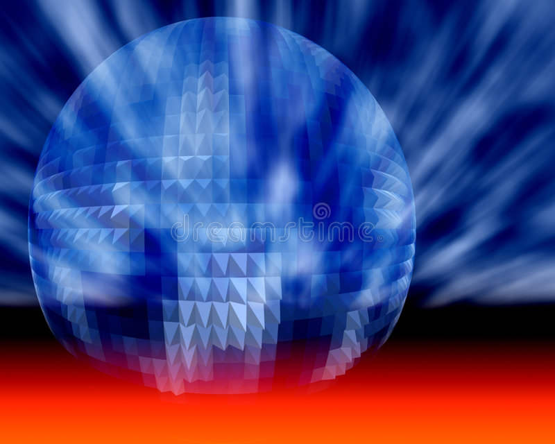 Geschäfts-, Wissenschafts-und Technologie-kosmische Kugel vektor abbildung