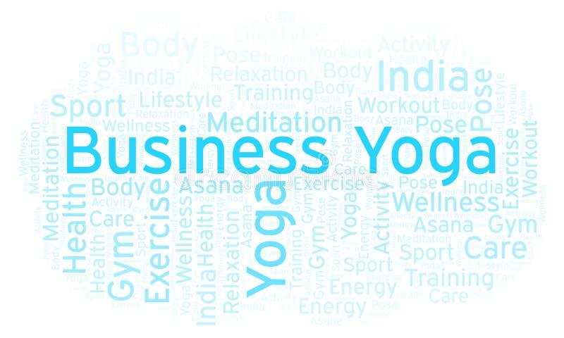 Geschäfts-Yogawortwolke lizenzfreie abbildung
