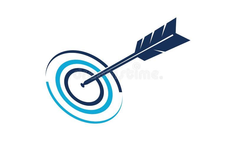 Geschäfts-Ziel Logo Design Template lizenzfreie abbildung