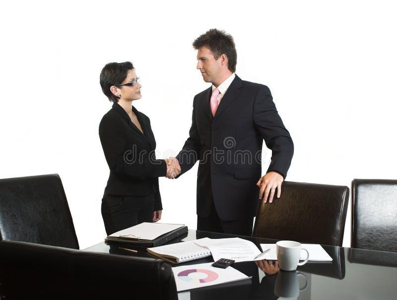 Geschäftsabkommen - getrennt stockbild