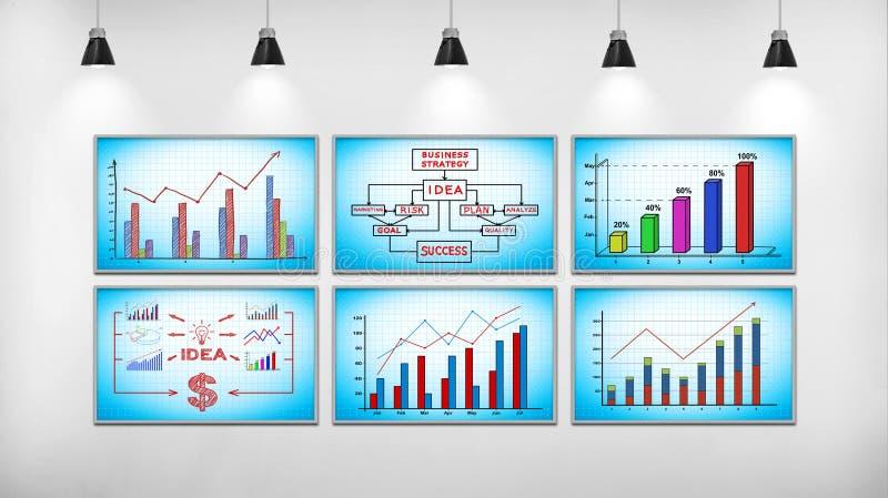 Geschäftsaktienkurve lizenzfreie abbildung