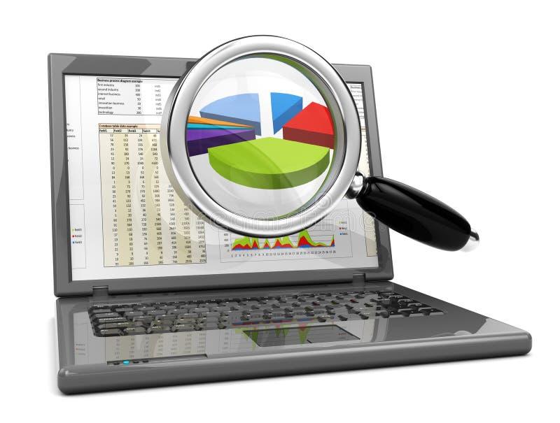 Geschäftsanalysieren vektor abbildung