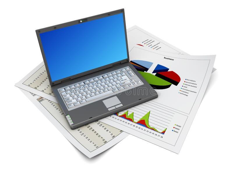 Geschäftsanalysieren lizenzfreie abbildung