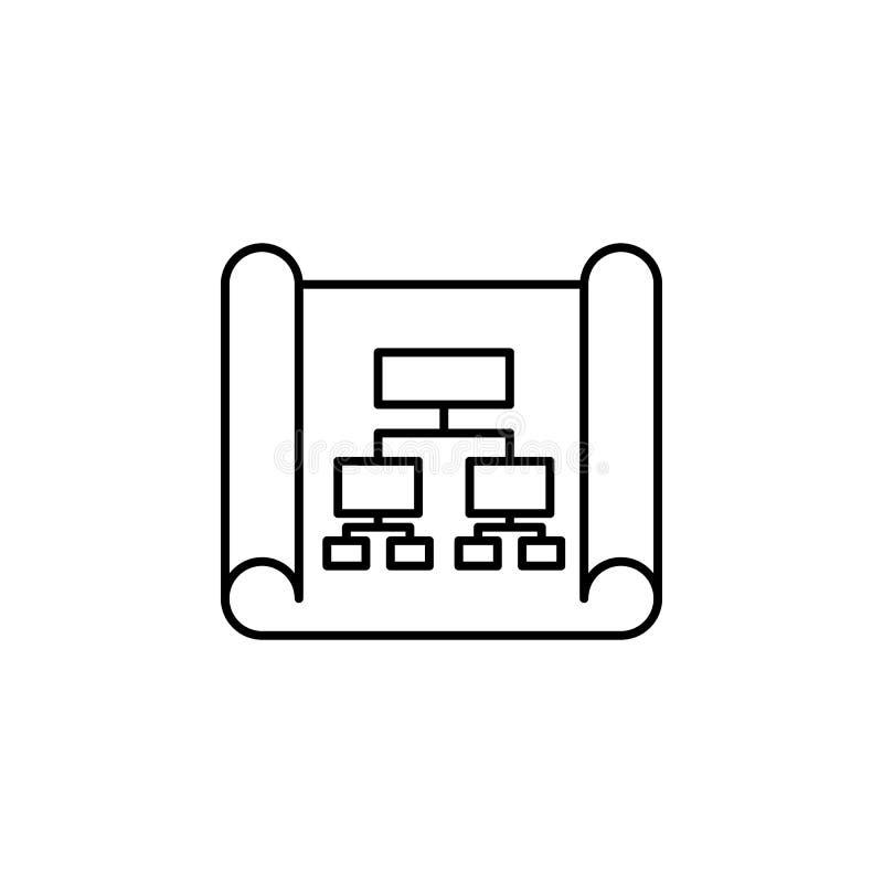 Geschäftsanalytik, Flussprozessikone Element der Ikone der künstlichen Intelligenz für bewegliche Konzept und Netz apps Dünne Lin stock abbildung