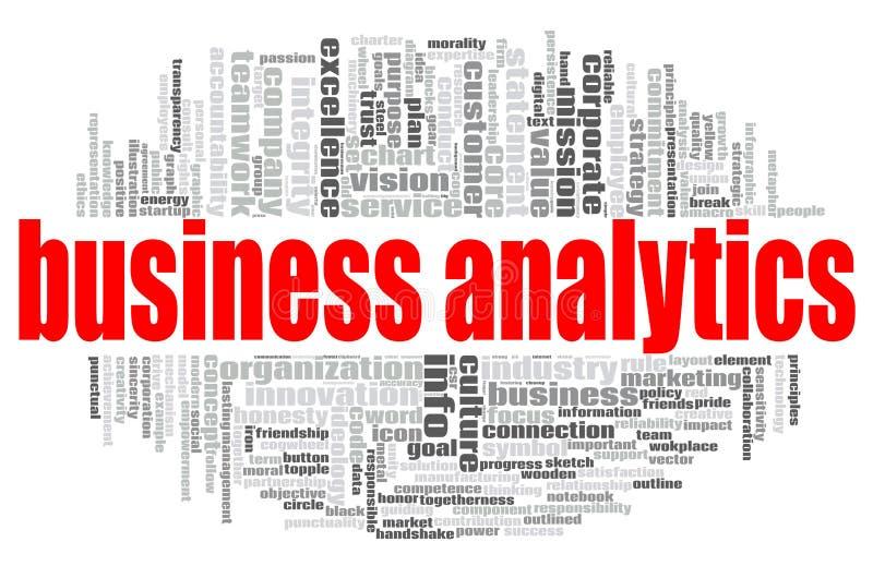Geschäftsanalytik-Wortwolke lizenzfreie abbildung