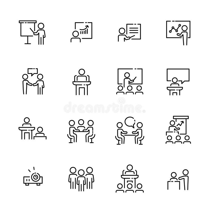 Geschäftsarbeits-Ikonensatz, Vektor eps10 stock abbildung