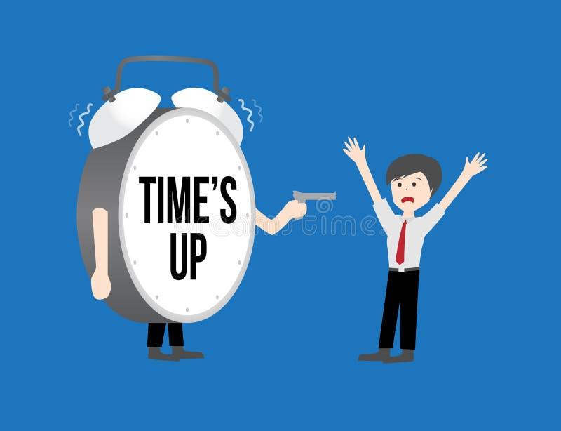 Geschäftsarbeitskräfte Konzept Zeit herauf Uhr vektor abbildung