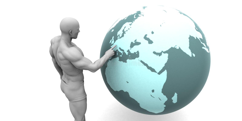 Geschäftsausweitung in Europa lizenzfreie abbildung