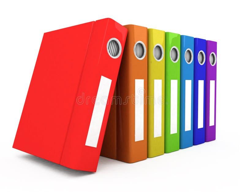 Geschäftsbücher der Farbe 3d stock abbildung