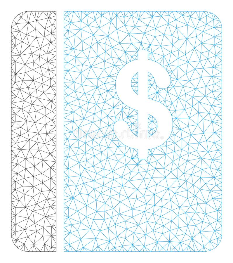 Geschäftsbuch-polygonaler Rahmen-Vektor Mesh Illustration stock abbildung