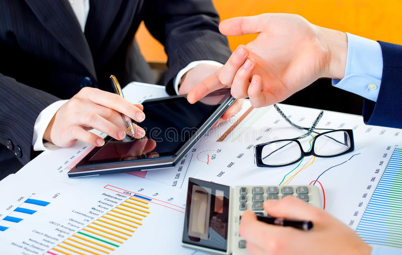 Geschäftsbuchhaltung stockfotografie