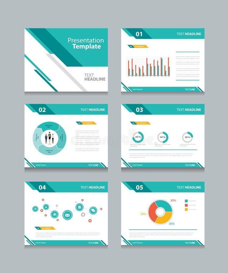 Geschäftsdarstellungs-Schablonensatz PowerPoint-Schablonendesignhintergründe stock abbildung