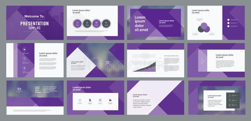 Geschäftsdarstellungsschablonendesign- und -seitenaufstellung entwerfen für Broschüre, Buch, Zeitschrift, Jahresbericht stock abbildung