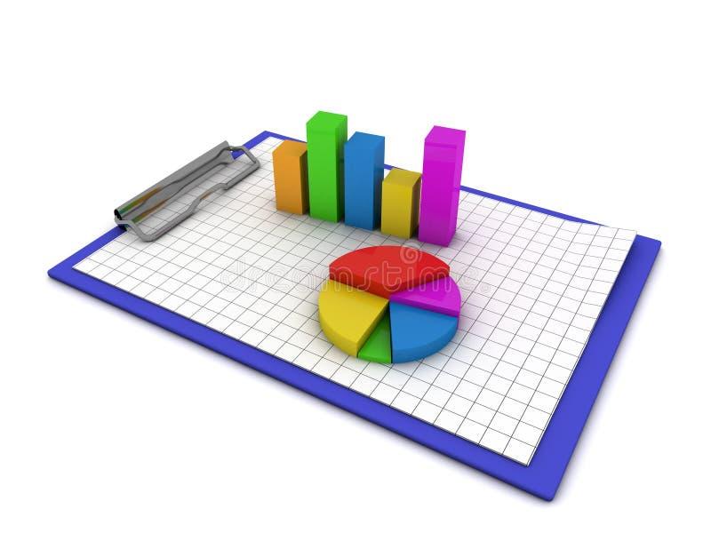 Geschäftsdaten lizenzfreie abbildung