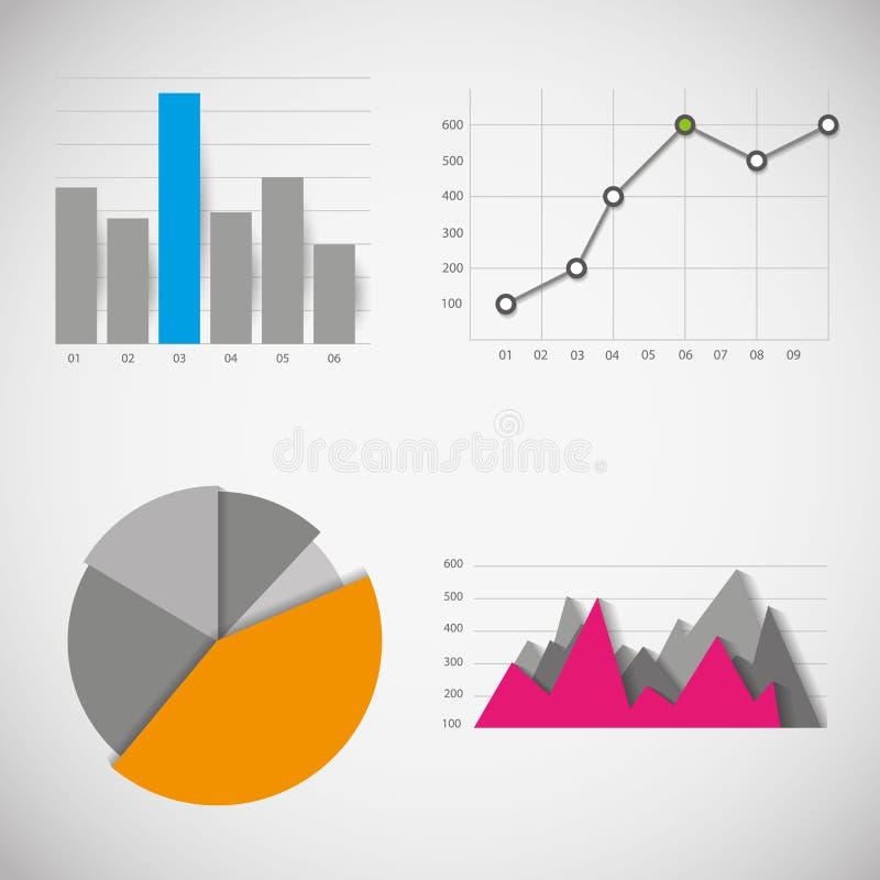Geschäftsdatenelemente vektor abbildung