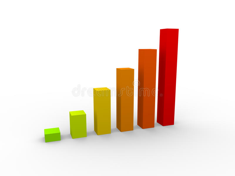 Geschäftsdiagramm stock abbildung