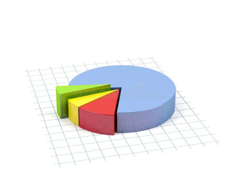 Geschäftsdiagramm. stock abbildung
