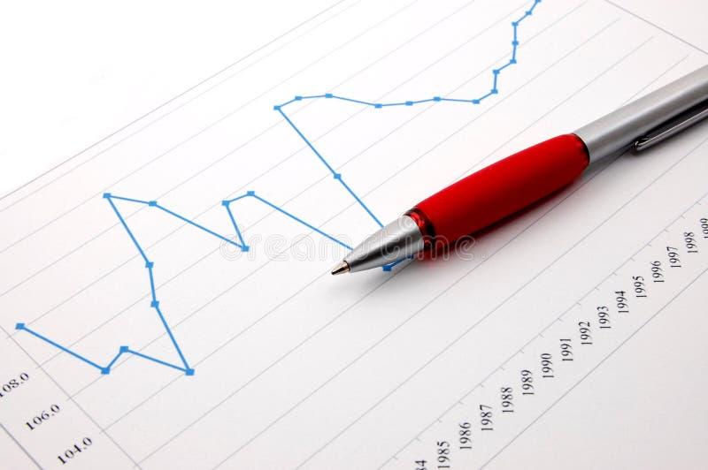Geschäftsdiagramm stockfotos