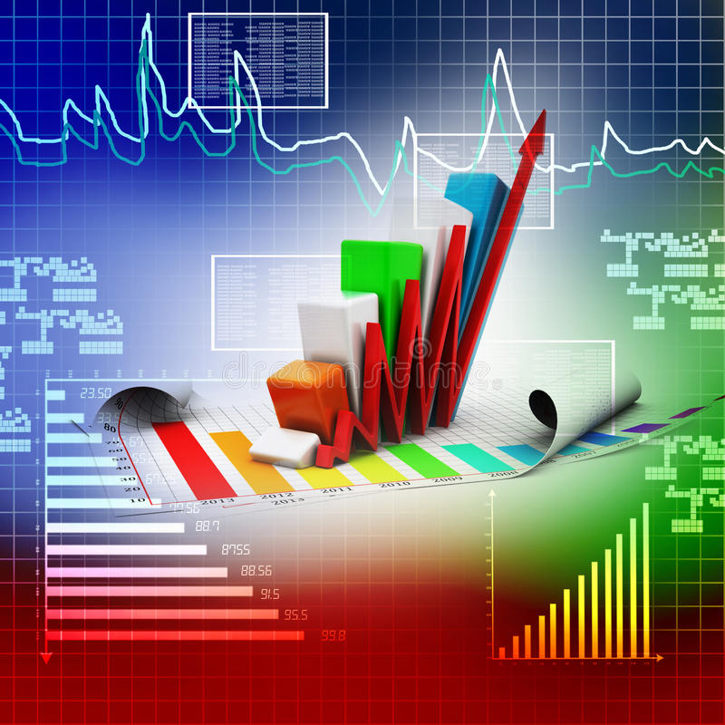 Geschäftsdiagramm, das steigt stock abbildung