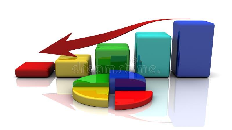 Geschäftsdiagramm, Diagramm, Diagramm, Stab vektor abbildung