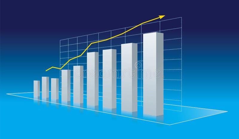 Geschäftsdiagramm - Fortschritt, Wachstumtendenz vektor abbildung