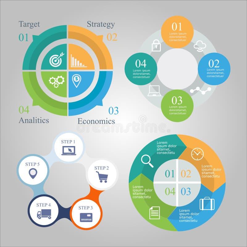 Geschäftsdiagramm infographics Satz lizenzfreie abbildung