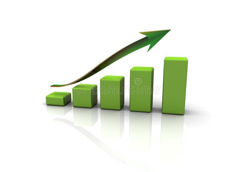 Geschäftsdiagramm oben stock abbildung