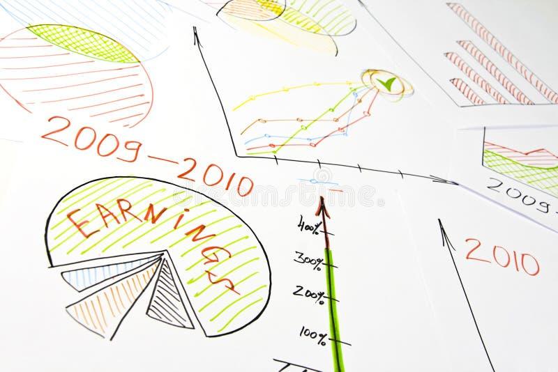 Geschäftsdiagramme stockfotografie