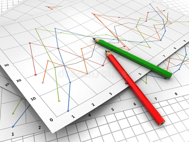 Geschäftsdiagramme stock abbildung