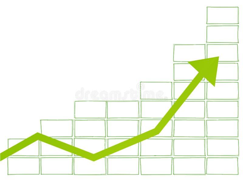Geschäftsdiagrammgrün vektor abbildung