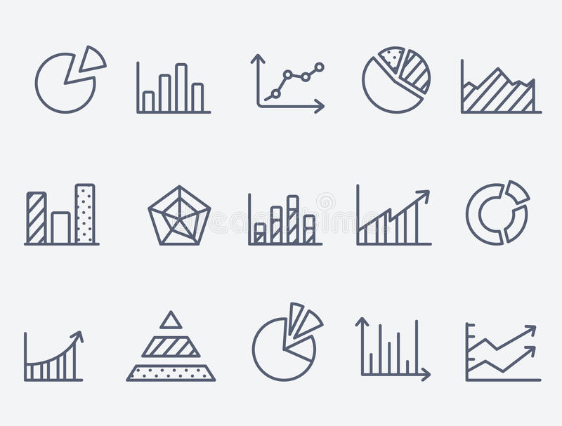 Geschäftsdiagrammikonen stock abbildung