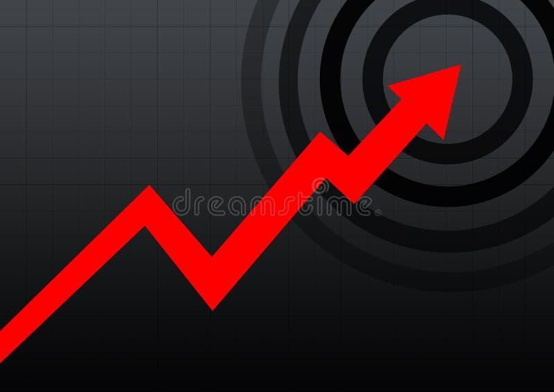 Geschäftsdiagrammschwarzes stock abbildung