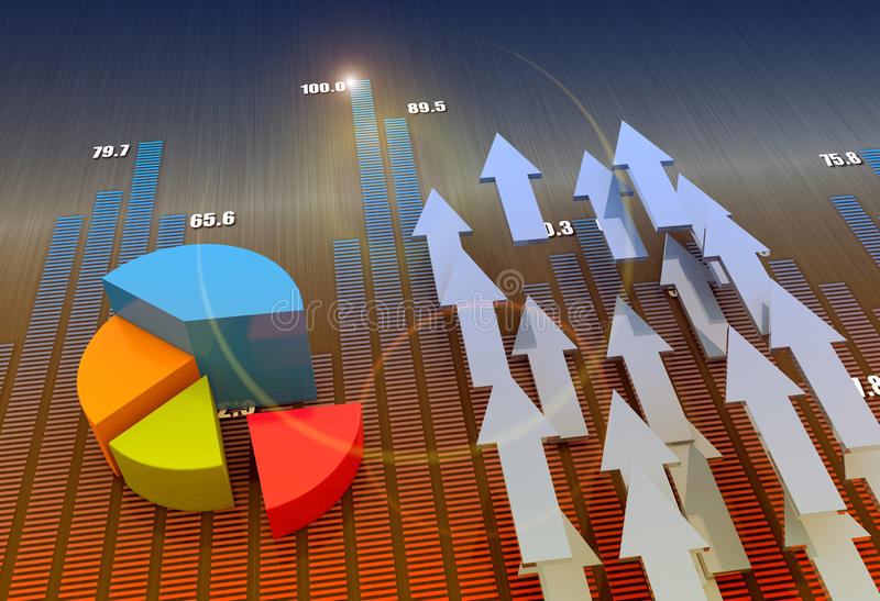 Geschäftsdiagrammwachstum vektor abbildung