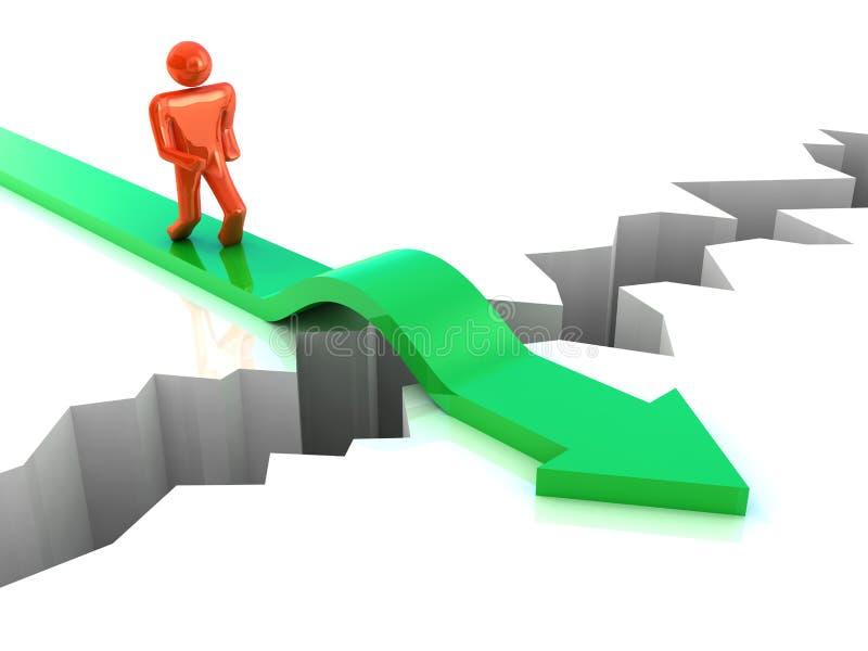 Geschäftserfolg-Konzept stock abbildung