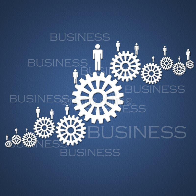 Geschäftserfolg-Teamwork stock abbildung