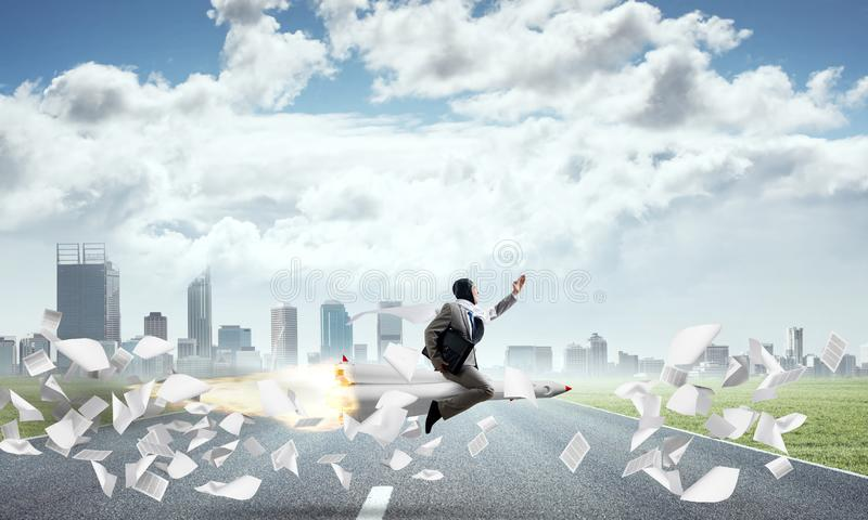 Geschäftserfolg und Zielleistungskonzept vektor abbildung