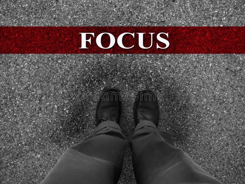 Geschäftserfolgdurch Fokus stockfoto