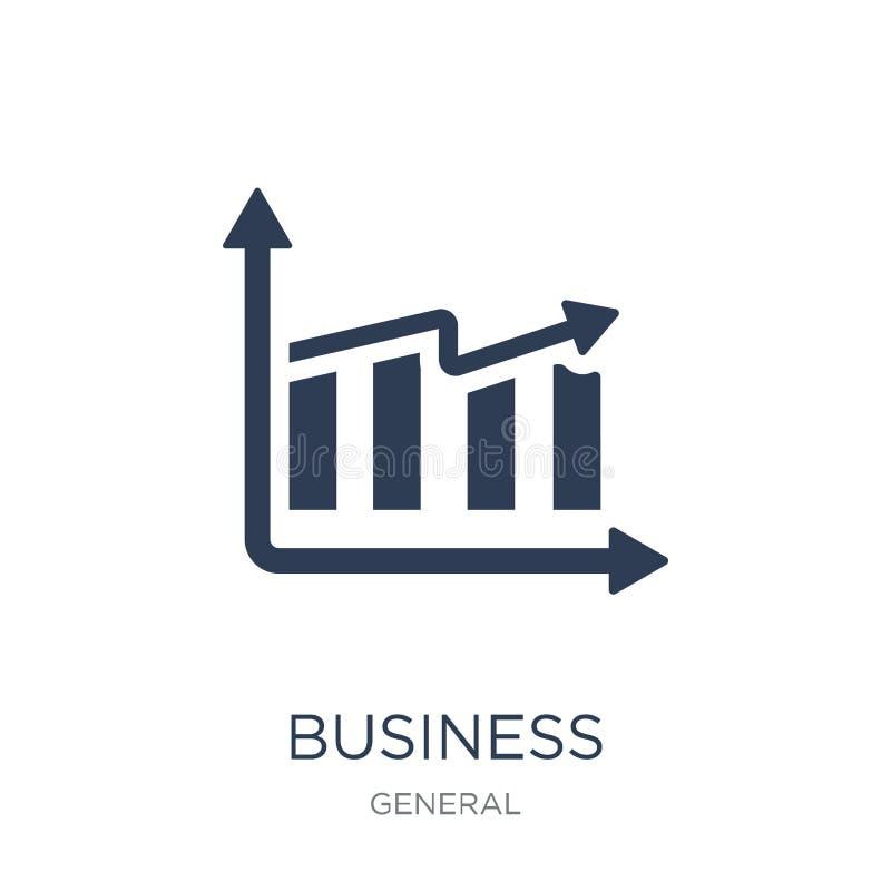 Geschäftsergebnisikone Modisches flaches Vektorgeschäft performan lizenzfreie abbildung
