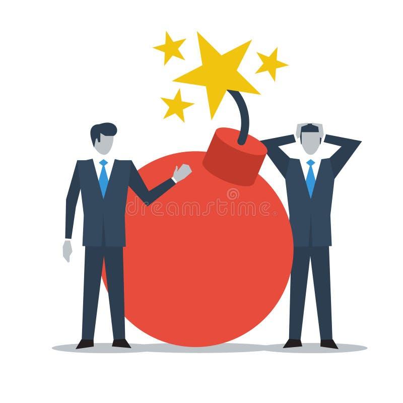 Geschäftsführung in der Krise lizenzfreie abbildung