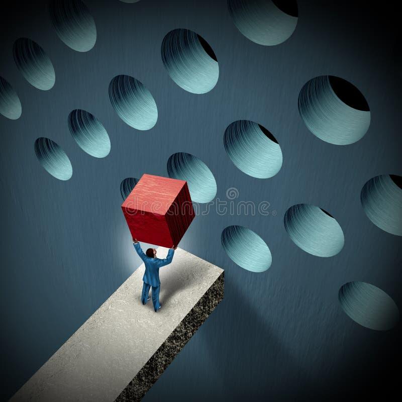 Geschäftsführungs-Herausforderungen vektor abbildung