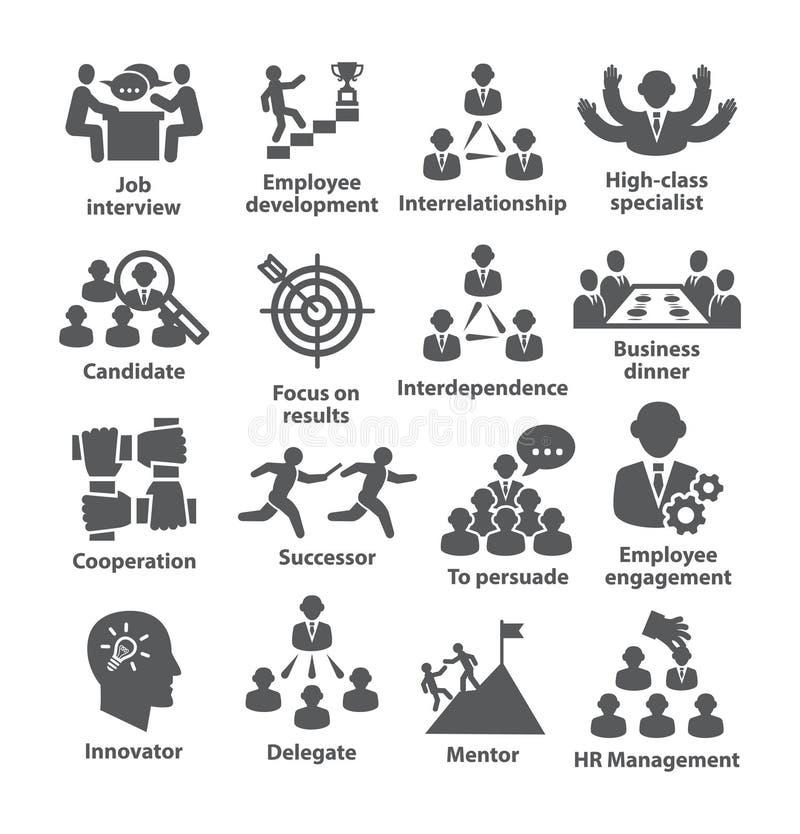Geschäftsführungs-Ikonen Satz 33 stock abbildung
