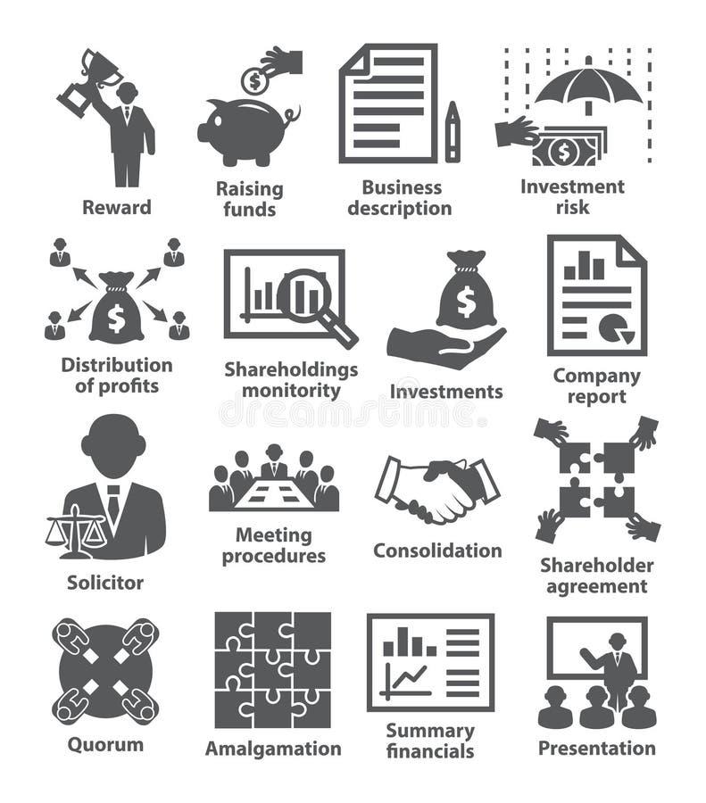 Geschäftsführungs-Ikonen Satz 43 stock abbildung