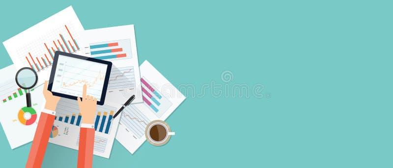 Geschäftsfinanz-Investitionshintergrund und -fahne lizenzfreie abbildung